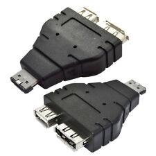 Por ejemplo, eSATA eSATA _ 1Pc Combo USB Adaptador Convertidor Divisor Conector de doble puerto