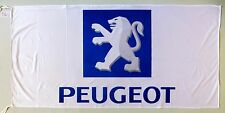 PEUGEOT FLAG WHITE - SIZE 150x75cm (5x2.5 ft) - BRAND NEW