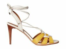 Coach Kiara Mat Women's Shoes 7 M Lace Up Slingback Heels