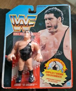 """WWF Hasbro Foreign Blue Card Andre """"El Gigante"""" The Giant Unopened"""