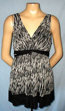 Mixit Tie-Back Top Size Medium Casual or Career Fully Lined 36/28