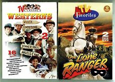 Classic TV Westerns - TWO DVD Box Sets - Rifleman / Lone Ranger / etc.  26 shows