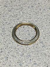 New GUCCI Gold Tone Diamond Cut Metal Bezel for 1100L 1200L Bangle Watch