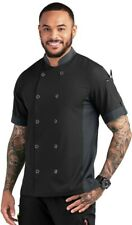 New Chef Performance - Men's Snap Closure Chef Coat - Poly/Spandex Stretch (Med)