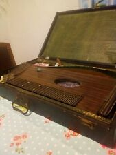 Alte Antike Zither mit Holzkoffer