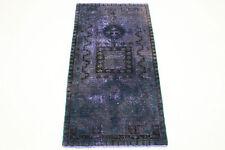 Orient Teppich Vintage modern 200x100 lila carpet Used Look handgeknüpft 3290