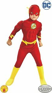 DC Comics Deluxe Muscle Chest The Flash Boys Kids Child Costume | Rubies 882308