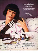 PUBLICITE ADVERTISING 064  1973  DOCTEUR FAUST   cosmétiques POP-LINE