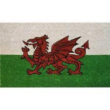 JVL Cymru Welsh Dragon PVC Backed Coir Coconut Entrance Door Mat, 40 x 70 cm