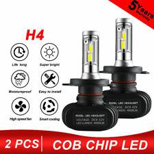 2x H4 9003 HB2 LED Headlight Bulb Conversion Kit High Low Beam 6000K 8000LM