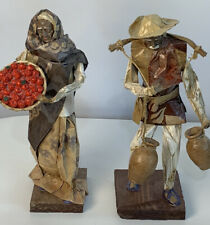 Two Latin American folk art sculptures Indigenous Handmade Paper Mache