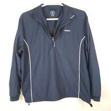 Reebok Golf Men's Large Rain Jacket Pullover 1/4 Zip Navy Blue Polo Spellotlut