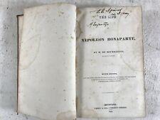 Life Of Napoleon Bonaperte Antique Leather Bound Book French Military History