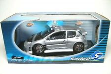 1 18 Solido PEUGEOT 206 Tuning Silver & Black 8181