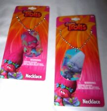 Dreamworks Trolls Poppy and Guy Diamond Dog Tags Necklaces-Party Favors-New!