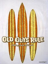 Three Boards,Old Guys Rule,Surf Tee,XL,White,Nothing Beats A Woodie,Longboard