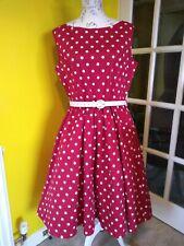 Lindy Bop Audrey Red/White Polka Dot Swing Dress Size 18