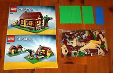 LEGO Creator 5766 LOG CABIN 3-in-1 355 Pieces 2 Manuals COMPLETE