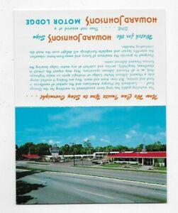 Vintage Postcard Howard Johnson's Restaurant Comment Card 2486