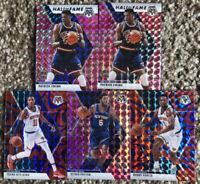 2020 Panini Mosaic Basketball Refractor New York Knicks (5) Card Lot