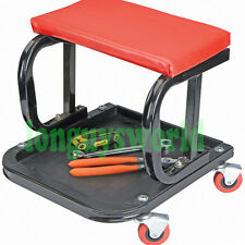 AUTO MECHANIC PRO ROLLING CREEPER SEAT ROLLER BEARING CASTERS TOOL STORAGE CHAIR