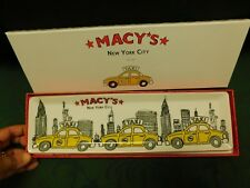 Nib Macy's New York City taxi long tray serving platter collectible home decor