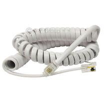 2m Blanco Rj10 teléfono Cable Calidad Hi teléfono Cuerda en espiral espiral de alambre