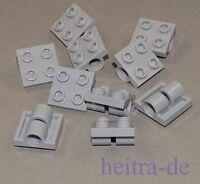 LEGO - 10 x Platte 2x2 hellgrau mit 2 x Lochhülse / Lochhülsen / 2817 NEUWARE