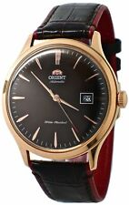 "Orient ""bambino 4"" Classic Automatic With Hand WINDING Rose Gold Watch FAC08001T"