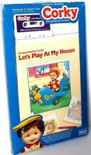 Playmates CORKY Let's Play At My House  Activity Book & Cassette Tape Set NRFB