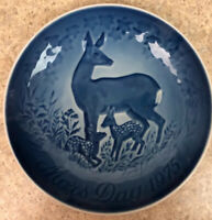 """Vintage Bing & Grondahl 1975 Deer Mothers day plate 5.75"""" Inc Shipping"""