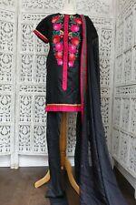 Black embroidered churidaar pyjami suit Size UK 14 / EU  40– SKU16619