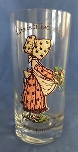 1977 American Greetings Holly Hobbie 12oz Drinking Glass Sweet Surprises Carrie