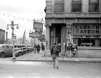 "1940 Corner Tavern, Salem, Illinois Vintage Photograph 8.5"" x 11"" Reprint"