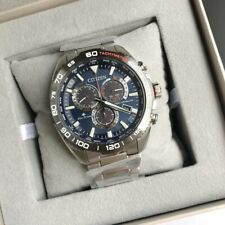 Citizen Promaster Land Watch * Eco-Drive CB5034-82L Global Radio Blue Dial Steel
