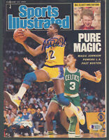 Lakers Magic Johnson Signed Feb 1987 Sports Illustrated Magazine BAS #MJ17758