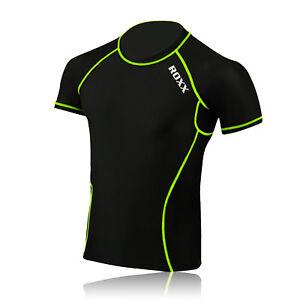 Mens Boys Body Armour Compression Baselayers Under Shirt Top Skins ROXX Sports