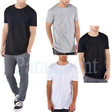 Cotton Blend Crew Neck Basic Loose Fit T-Shirts for Men