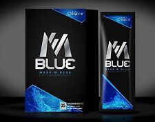 M-Blue Energy Drink Boosts energy to the body 1 Box 25 Sachets