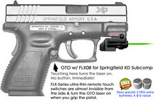 ArmaLaser GTO for Springfield XD Subcompact GREEN Laser Sight +FLX08 Grip On/Off