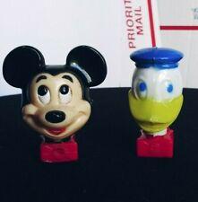 Mickey Mouse & Donald Duck Walt Disney Prod. Vintage Night Light Set.