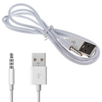3.5mm AUX Audio Plug Jack to USB 2.0 Male Charge Cable Adapter Cord Car MP3 iPod