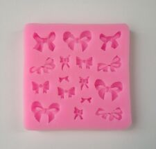 Ribbon Bow Soft Silicone Mold Fondant Mat Cake Decorating Cupcake Design Emboss