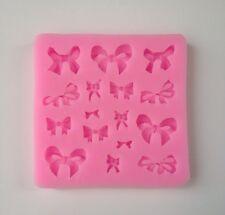 Ribbon Bow Soft Silicone Mold Fondant Mat Cake Decorating Cupcake Design Emboss