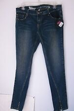 Abbey Dawn NWT Women's sz 13 Skinny jeans cotton spandex Studs Star