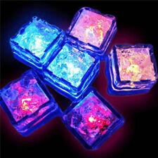 12 Pcs Multi Color Rainbow Flash Light Up Ice Cube Glow Ice Cube ~Fast Ship
