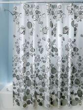"InterDesign Bubblz PVC-Free PEVA Shower Curtain, 72"" x 72"" Gray/Black"