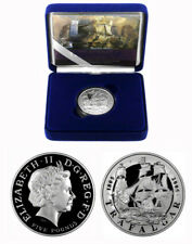 2005 UK Battle Of Trafalgar Royal Mint Sterling Silver Proof 5 Pounds  £5  Coin