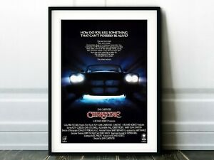 Christine Movie Poster - Classic 80s Vintage Wall Film Art Print . Decor art