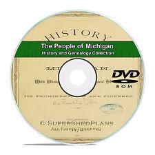 Michigan MI, People, Cities, Family Tree History Genealogy 31 Books DVD CD B07